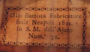 1811 Fabricatore Label