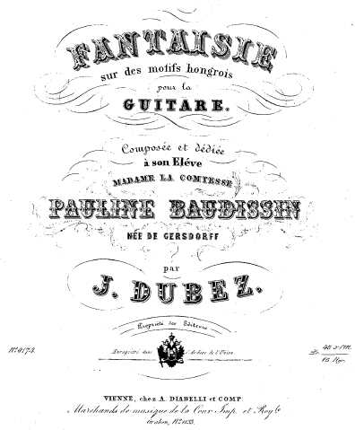 Hungarian Fantasy Title Page